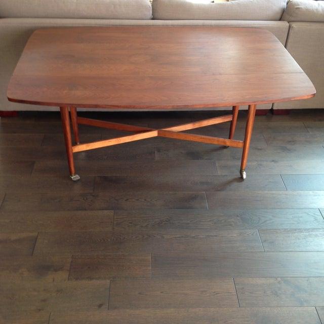 1960 Drexel Declaration Kipp Steward McDougell Drop-Leaf Dining Table For Sale - Image 11 of 11