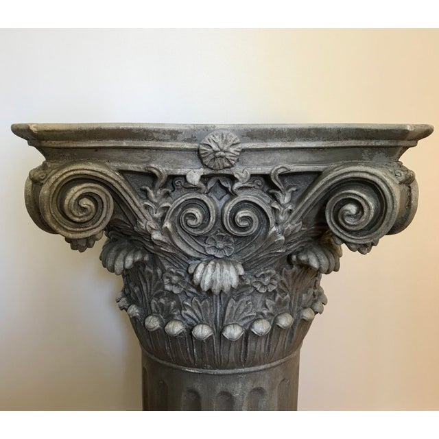 Neoclassical Vintage Universal Statuary Neoclassical Resin Column Pedestal For Sale - Image 3 of 9
