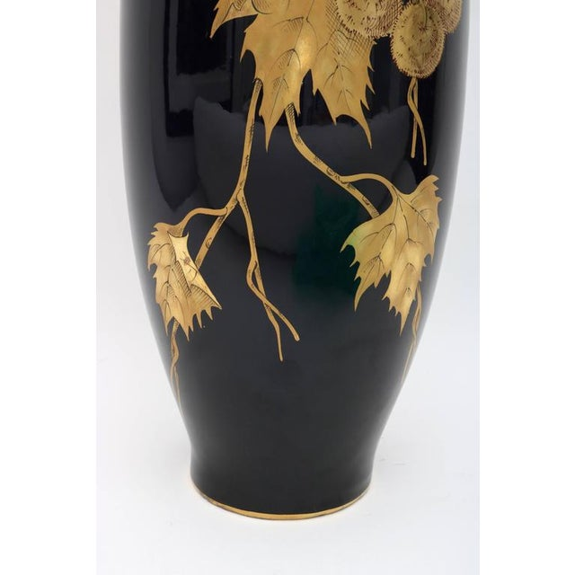 Early 20th Century Porcelain Vase by Gustave Asch in Cobalt Blue and Gold, circa 1900 For Sale - Image 5 of 10