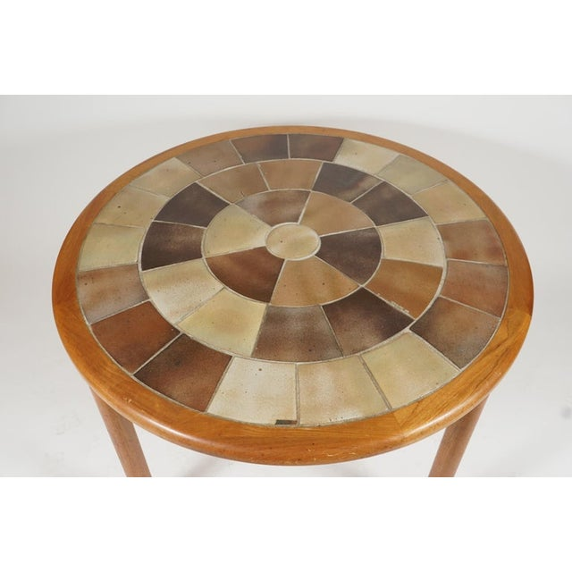 Tue Poulsen Tue Poulsen Designed Ceramic Tile Dining/ Dinette Teak Table by Haslev For Sale - Image 4 of 10