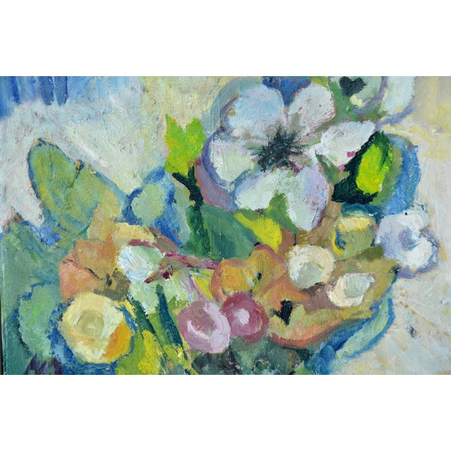A lovely original oil painting on canvas with loose refined brushstrokes and sophisticated tasteful nuanced color choices,...