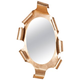 Gaudi Style Gilt Mirror For Sale