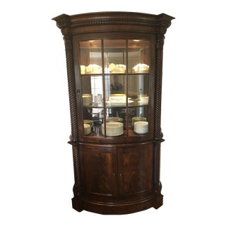 Henredon Mahogany Lighted China Cabinet