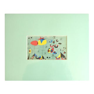 """Vintage Matted Print of """"Snob Soiree at the Princess's"""" by Joan Miro For Sale"""