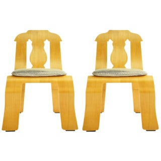 Pair of Robert Venturi Empire Chairs For Sale
