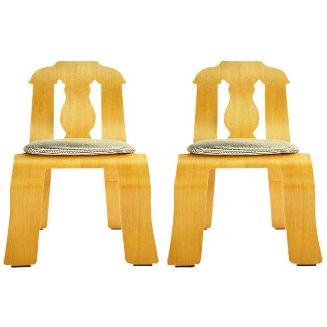 Pair of Robert Venturi Empire Chairs For Sale