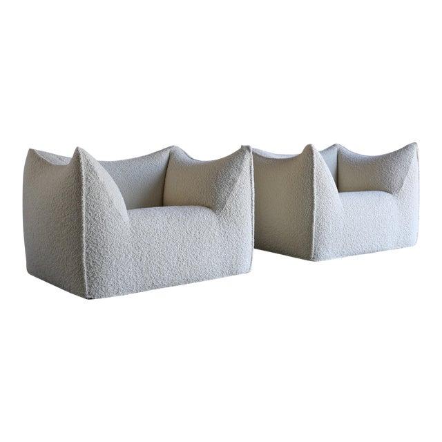 "Mario Bellini "" Le Bambole "" Lounge Chairs for B&b Italia, Circa 1985 - a Pair For Sale"