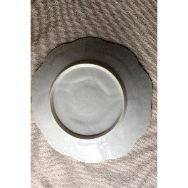 Limoges, France Antique French Porcelain Copper Lustre Glaze Oyster Plate For Sale - Image 4 of 8