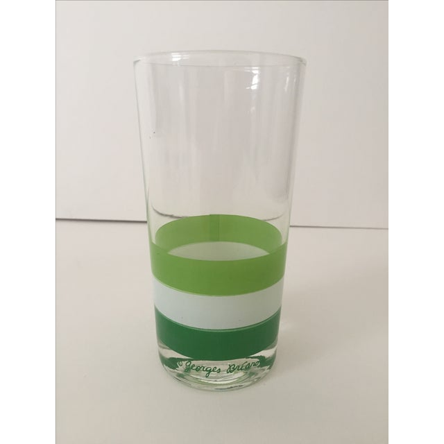 Georges Briard Mid Century Tri Striped Green Tumbler Glasses - Set of 4 For Sale - Image 5 of 6