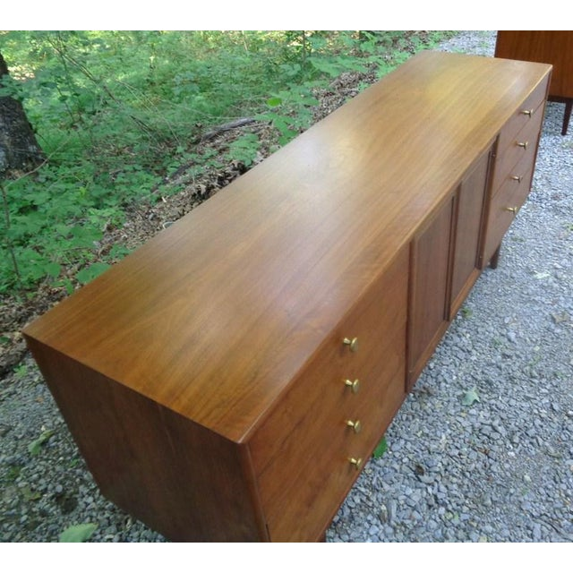 Kipp Stewart For Drexel Declaration Walnut Credenza Long Chest - Image 6 of 11