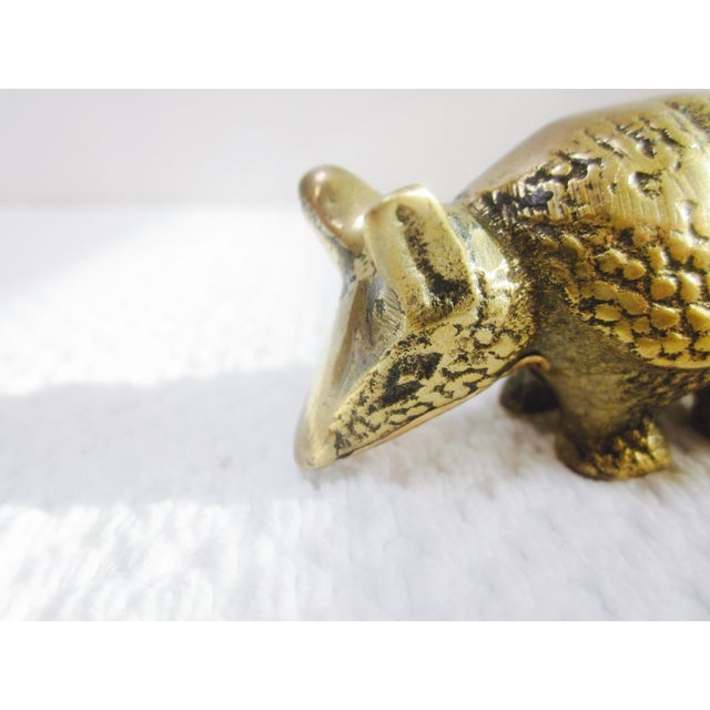 Solid Brass Anteater Paperweight Figurine - Image 6 of 8
