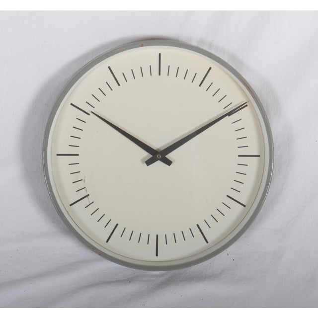 Mid-Century Wall Clock by Lm Ericsson For Sale - Image 4 of 4