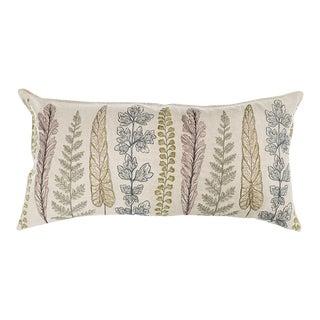 Contemporary Linen Plants Lumbar