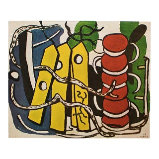 "1950 Fernand Léger ""The Yellow Labels"" Original Period Parisian Lithograph For Sale"