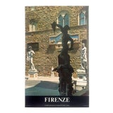 """Image of Vintage Mid Century Rare """" Firenze """" Collector's Florence Italy Travel Poster For Sale"""