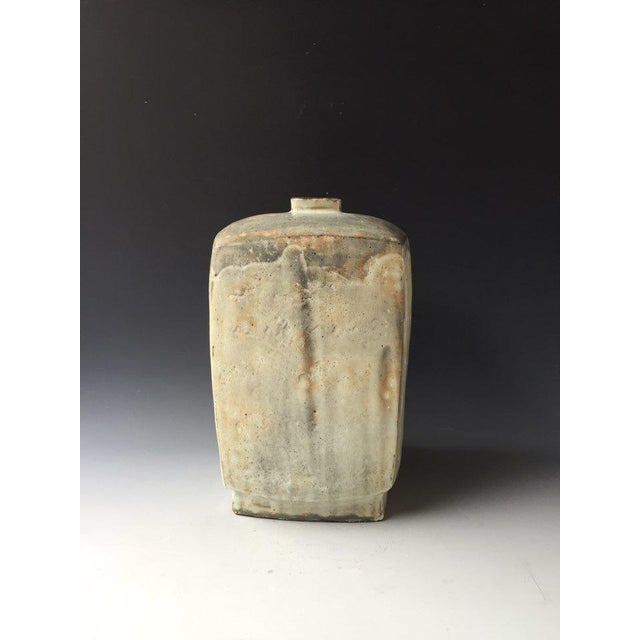Contemporary Kang Hyo Lee, Buncheong Square Bottle, 2016 For Sale - Image 3 of 3