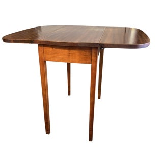1960s Mid Century Drop Leaf Side Table For Sale
