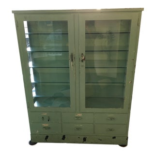 1920s French Art Deco Industrial Medical Apothecary Cabinet