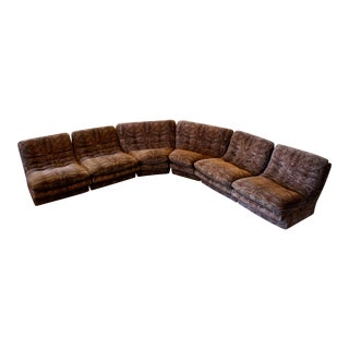 Vladimir Kagan Six Piece Modular Sectional Sofa For Sale