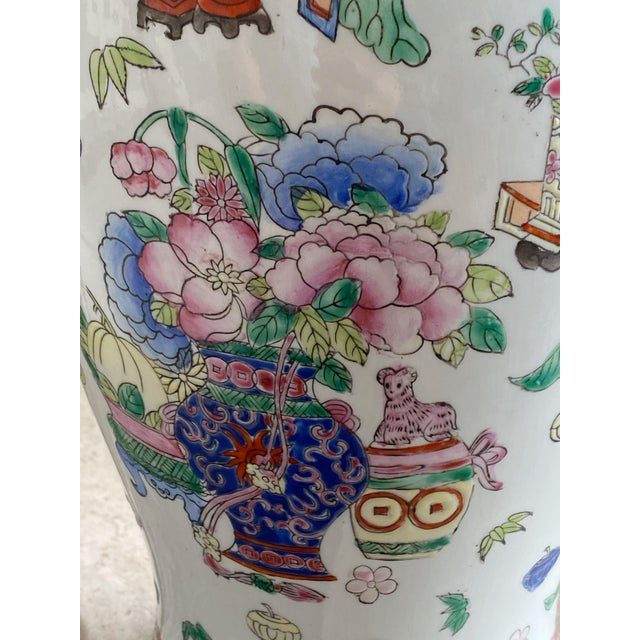 19th Century Chinese Famille Rose Vase With Pink Flowers For Sale In Dallas - Image 6 of 10