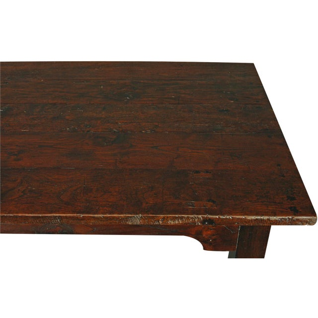 Solid Oak with Teak Country Style Dining Table - Image 4 of 8