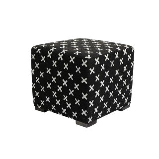 Mudcloth Cube Stool Ottoman For Sale