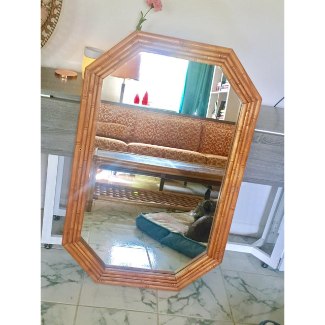 Vintage Mid-Century Faux Bamboo Mirror - Image 2 of 6