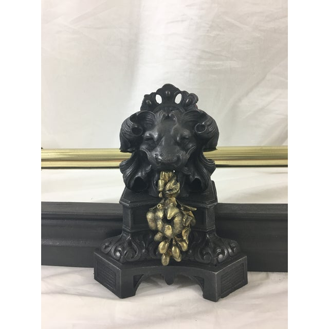 The combination of both the metals and the lion with the flowers make for a highly unusual piece. In excellent condition,...