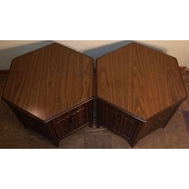Mid-Century Mersman Brutalist Style Side Tables - A Pair - Image 3 of 5