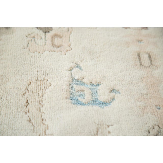 "Vintage Pale Blue Oushak Carpet - 5'4"" X 8' For Sale - Image 4 of 8"