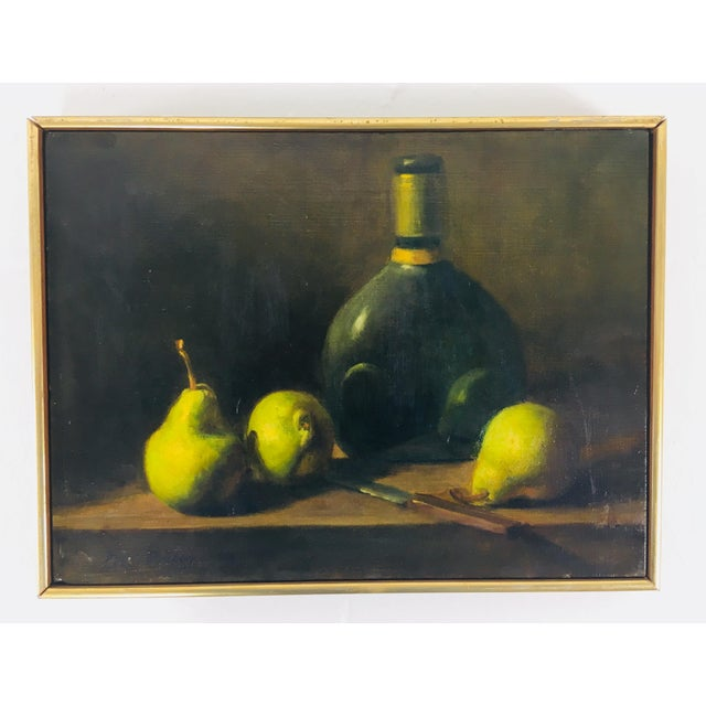 This is an oil on canvas classical still life in Spanish revival style. This beautiful painting has excellent color and is...