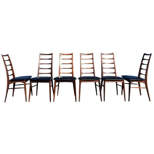 Niels Koefoed Rosewood & Teak Chairs - Set of 6 - Image 1 of 10