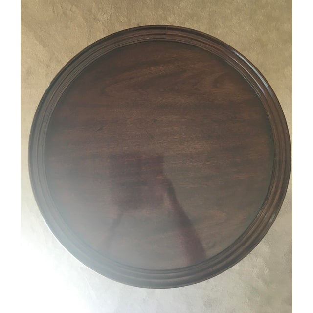 Henredon Ball & Claw Round Side Table - Image 3 of 6