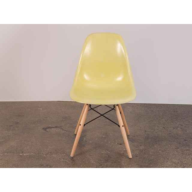 Canary Yellow Eames Shell Chair on Maple Dowel Base for Herman Miller For Sale In New York - Image 6 of 8