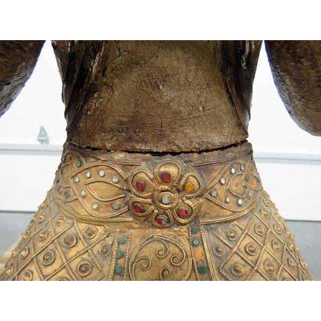 Wood Tibetan Goddess Statue For Sale - Image 7 of 12