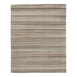 Exquisite Rugs Northampton Hand Loom Wool Ivory & Gray - 12'x15' For Sale