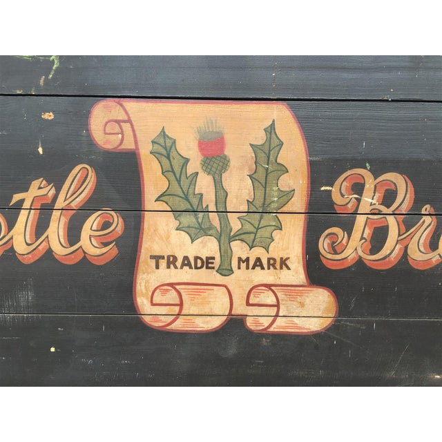 Monumental Hand Painted Antique Thistle Brewery Sign For Sale - Image 4 of 10