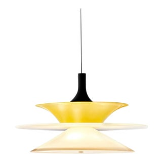Lungomare a Suspension Lamp in Yellow by Carlo Moretti For Sale