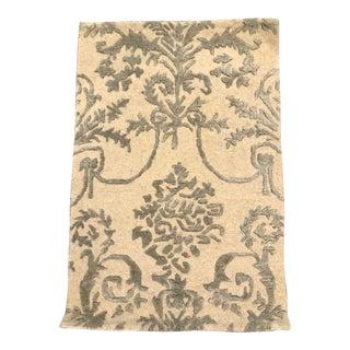 Safavieh Cream and Light Gray Scrolls Wool Rug - 2' x 3' For Sale