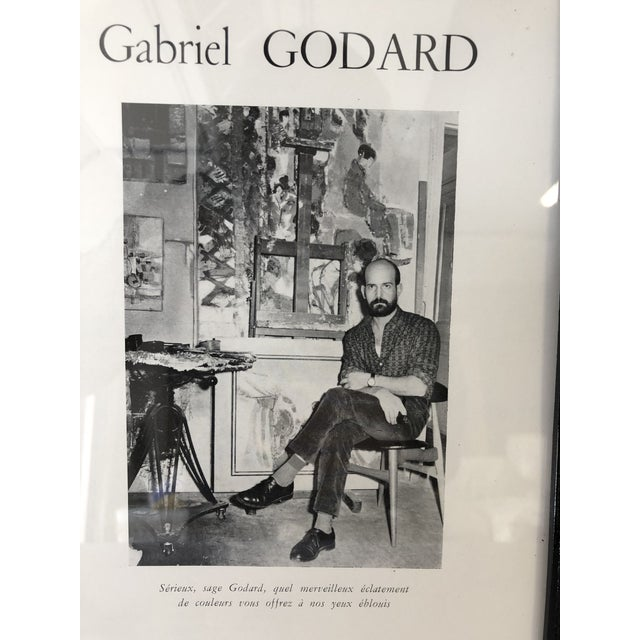 Abstract Gabriel Godard Artist Mid-Century Abstract Paintings For Sale - Image 3 of 5