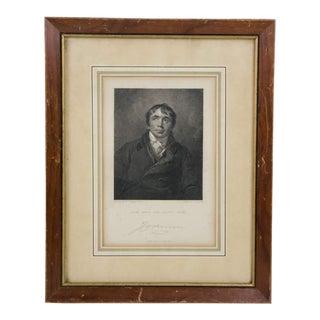18th Century Antique John Philpot Signed Portrait Etching For Sale