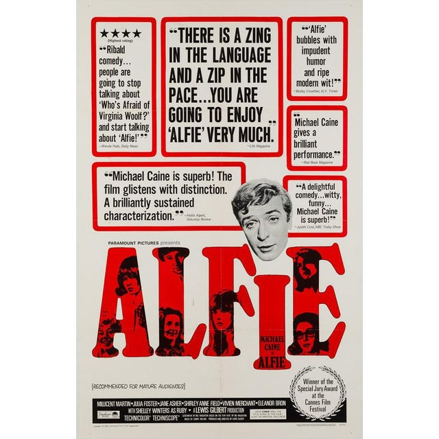 Alfie, many people's favourite cinematic rogue and arguably Caine's best role. An iconic 60s film and this US 1 sheet is...