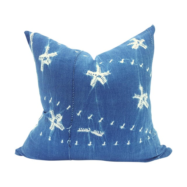 Indigo Blue African Mud Cloth Pillow - Image 1 of 4