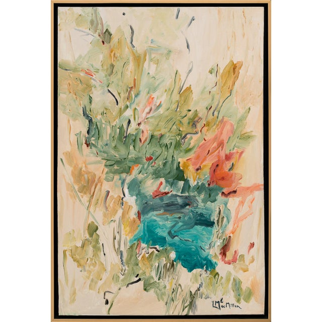 """""""Picnic"""" Abstract Acrylic Painting by Laurie MacMillan, Framed For Sale"""