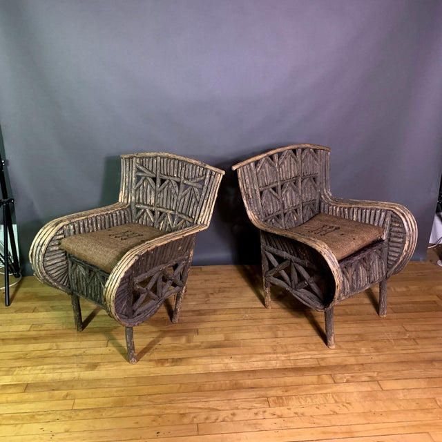Pair of 1930s New Hampshire Adirondack Chairs For Sale - Image 12 of 12