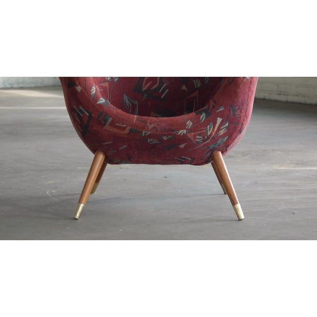 1960's Italian Lounge Chair in the Style of Gio Ponti Ca. For Sale - Image 4 of 13