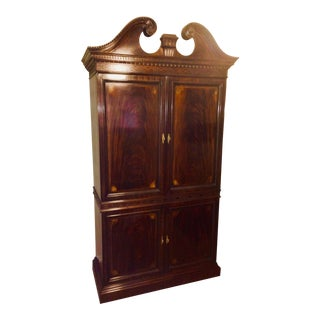 1990s Vintage Drexel Mahogany Armoire For Sale