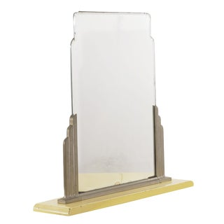 """Art Deco Norman Bel Geddes for Simmons Enameled """"Skyscraper"""" Dressing Mirror For Sale"""