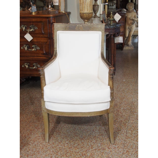 Late 18th Century French Empire Bergere - Image 3 of 9