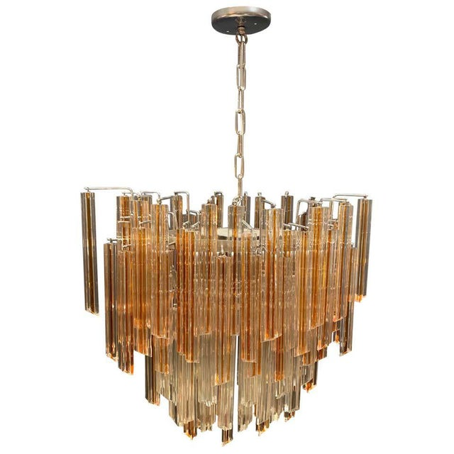 Vintage 1970s Venini Murano Glass Chandelier For Sale - Image 12 of 12